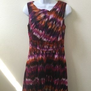 Womens Calvin Klein Multicolored Dress Size 4